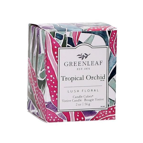 Greenleaf - Candle Cube Votivkerze - Duftkerze - Tropical Orchid