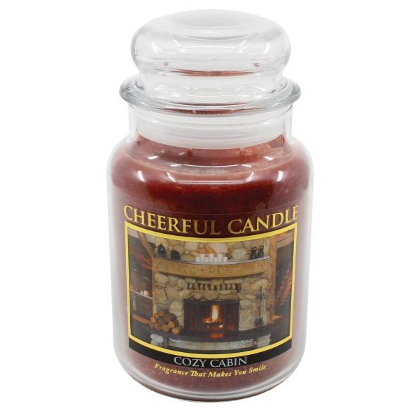 Cheerful Candle - Classic Large Jar - Duftkerze im Glas - Cozy Cabin