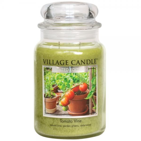 >Village Candle - Large Glass Jar - Tomato Vine