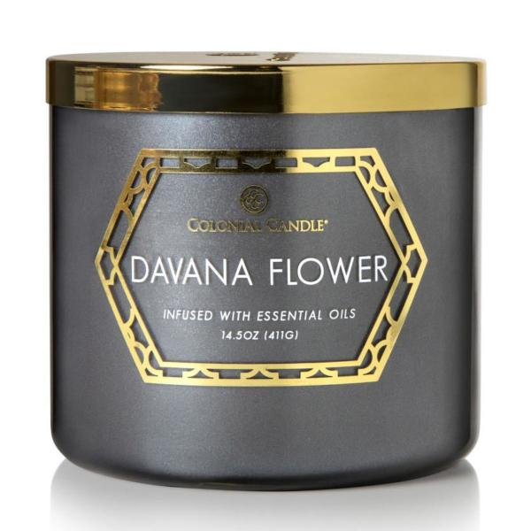 Colonial Candle - Mittlere Duftkerze im Glas - Everyday Luxe - Davana Flower