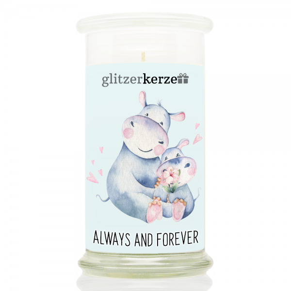 glitzerkerze - CE 06.21 - Always and Forever