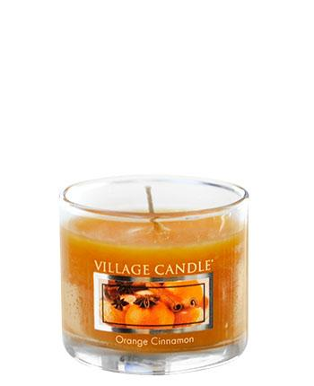 Village Candle - Mini Glass Votive Candle - Orange Cinnamon