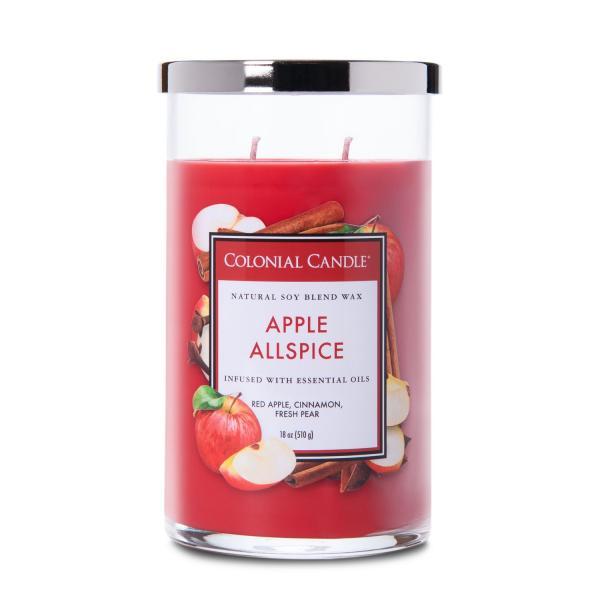 Colonial Candle - Große Duftkerze im Glas - Classic Cylinder - Apple Allspice