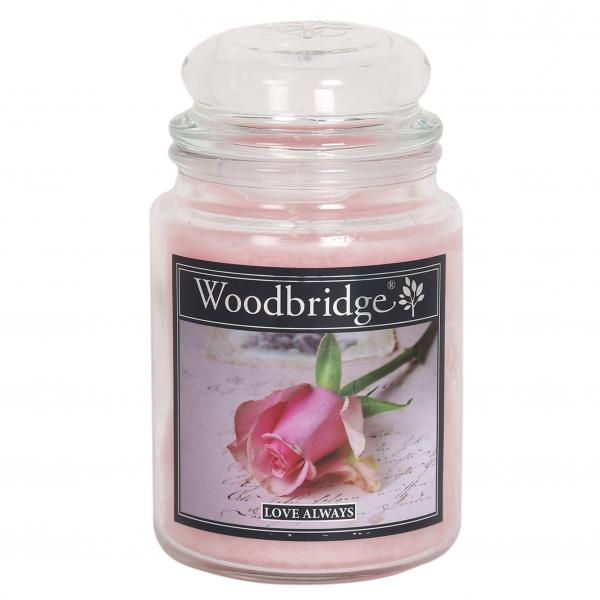 Woodbridge Candle - Große Duftkerze im Glas - Love Always