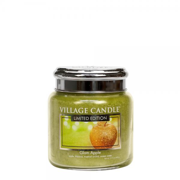 Village Candle - Medium Glass Jar - Glam Apple (LE)