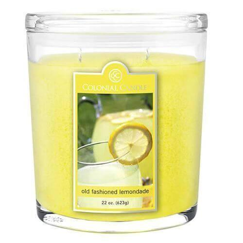 Colonial Candle - Große Duftkerze im Glas - Oval Collection - Old Fashioned Lemonade
