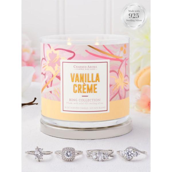 Charmed Aroma - Duftkerze mit Schmuck - Vanilla Creme (Ring)