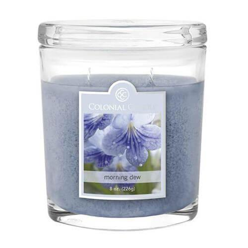 Colonial Candle - Kleine Duftkerze im Glas - Oval Collection - Morning Dew