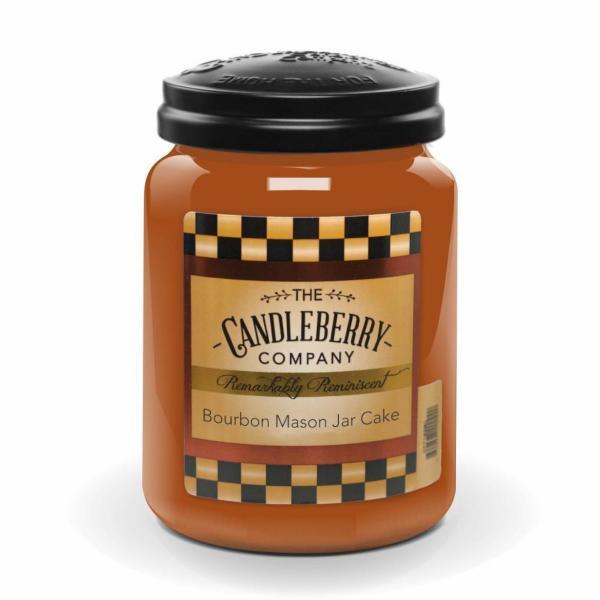 Candleberry - Duftkerze im Glas - Bourbon Mason Jar Cake