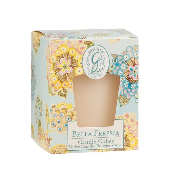 Greenleaf - Candle Cube Votivkerze - Duftkerze - Bella Freesia