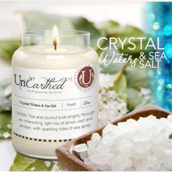 Candleberry - Duftkerze im Glas - Crystal Waters & Sea Salt