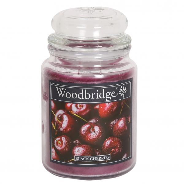 Woodbridge Candle - Große Duftkerze im Glas - Black Cherries