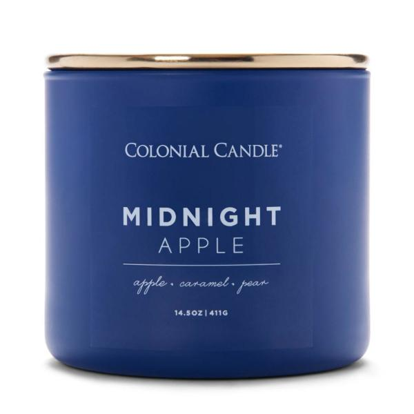 Colonial Candle - Mittlere Duftkerze im Glas - Pop of Color - Midnight Apple