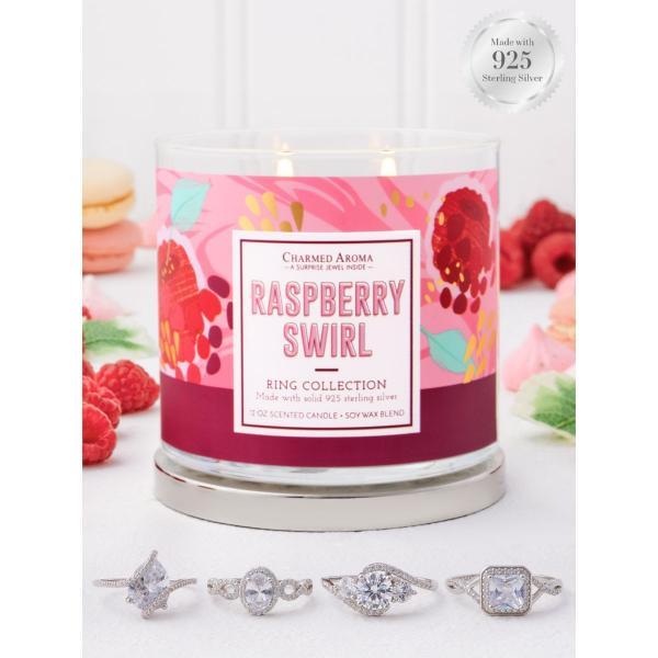 Charmed Aroma - Duftkerze mit Schmuck - Raspberry Swirl (Ring)