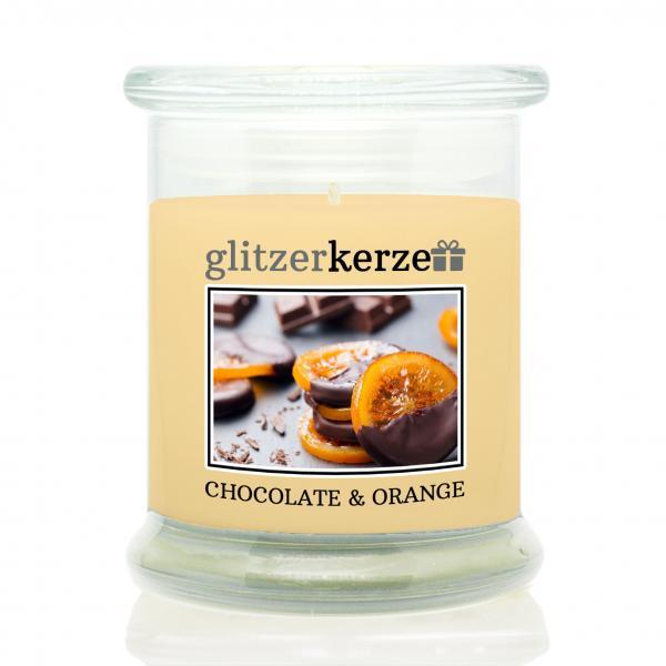 glitzerkerze - Duftkerze - Chocolate & Orange