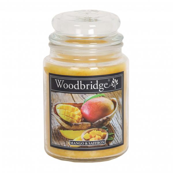 Woodbridge Candle - Große Duftkerze im Glas - Mango & Saffron