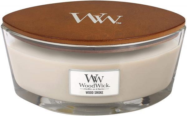 WoodWick - Hearthwick Ellipse Jar - Wood Smoke