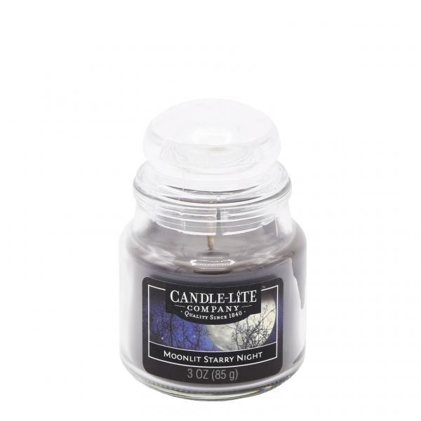 Candle-Lite Company - Kleine Duftkerze im Glas - Small Jar - Moonlit Starry Night