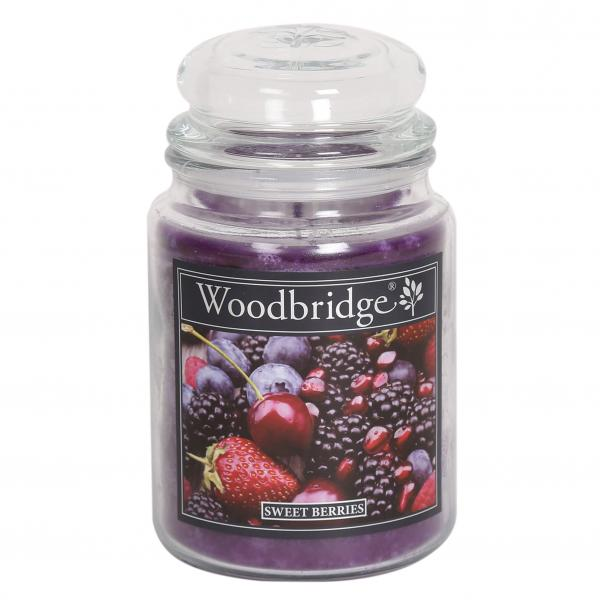 Woodbridge Candle - Große Duftkerze im Glas - Sweet Berries