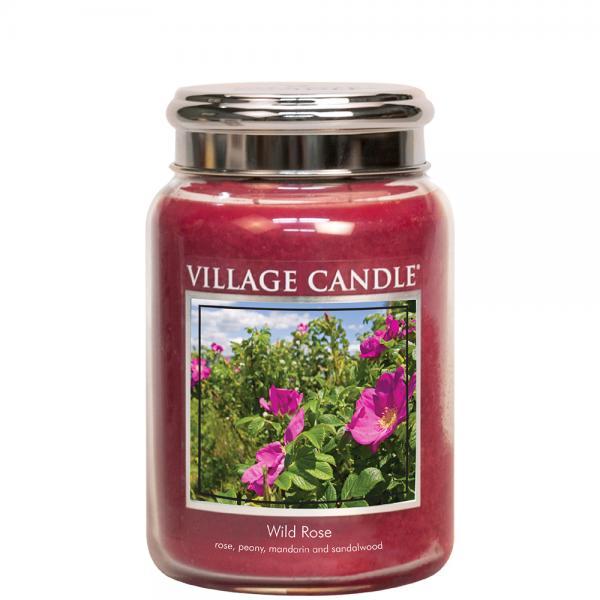 Village Candle - Large Glass Jar - Wild Rose