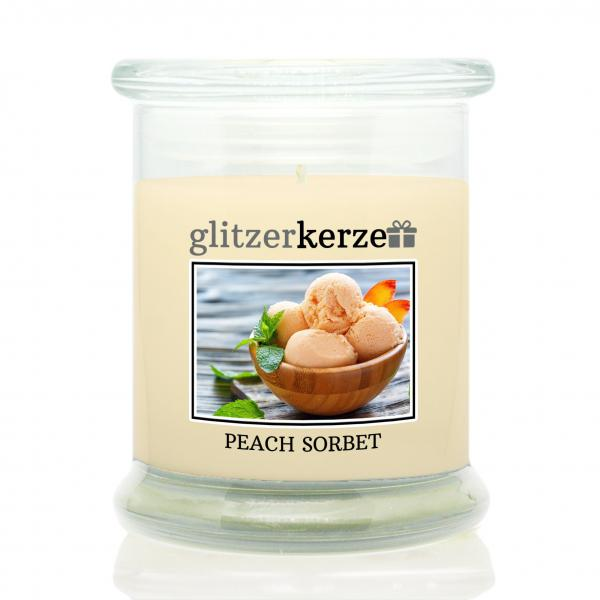 glitzerkerze - Duftkerze - Peach Sorbet