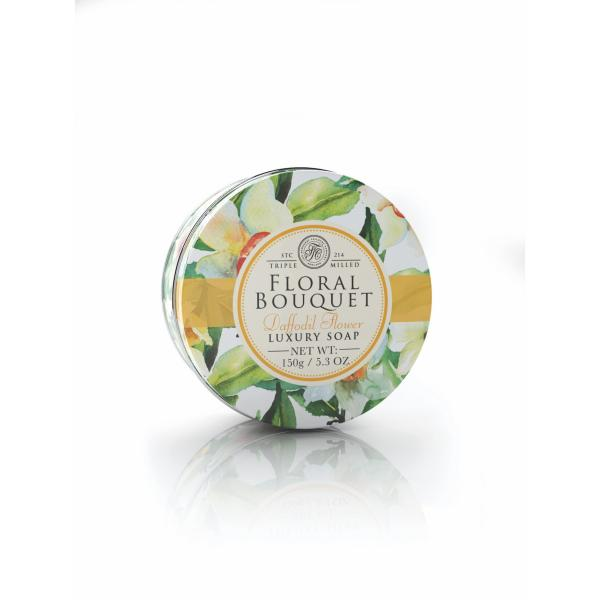 STC - Floral Bouquet Tin Soap Daffodil Flower