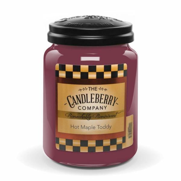 Candleberry - Duftkerze im Glas - Hot Maple Toddy