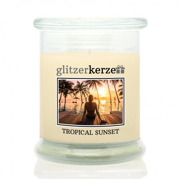 glitzerkerze - Duftkerze - Tropical Sunset