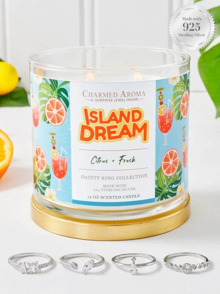 Charmed Aroma - Duftkerze mit Schmuck - Island Dream (Ring)