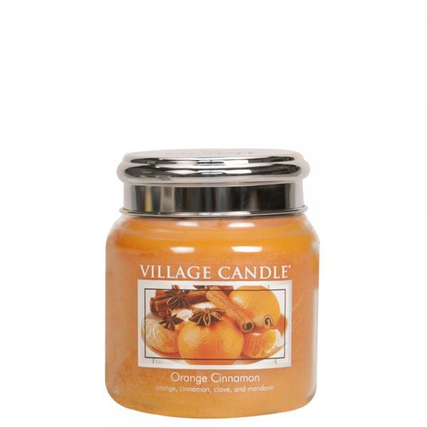 Village Candle - Medium Glass Jar - Orange Cinnamon