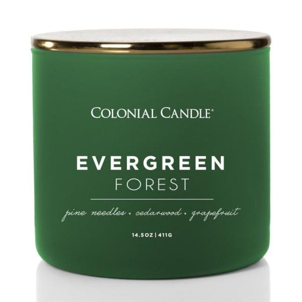 Colonial Candle - Mittlere Duftkerze im Glas - Pop of Color - Evergreen Forest