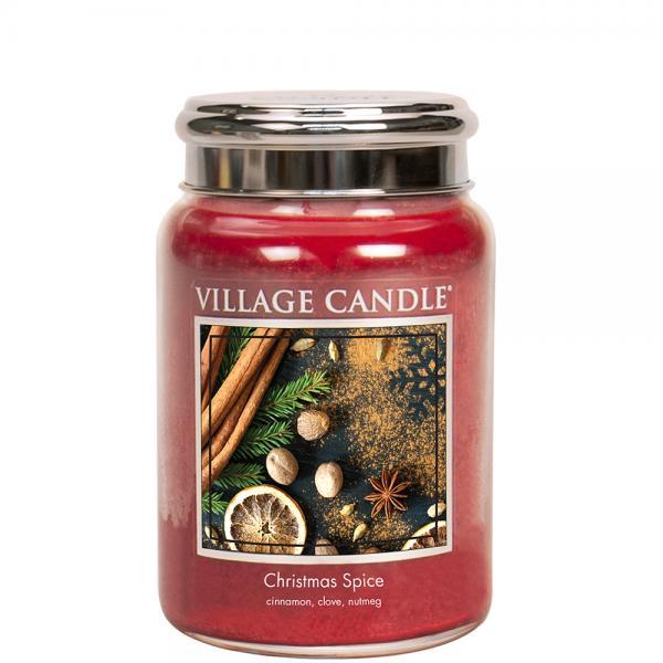 Village Candle - Large Glass Jar - Christmas Spice