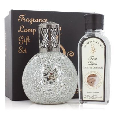 Ashleigh & Burwood - Geschenkset - Große Duftlampe Paradiso & 250ml Fresh Linen