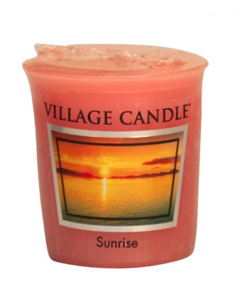 Village Candle - Votivkerze - Sunrise