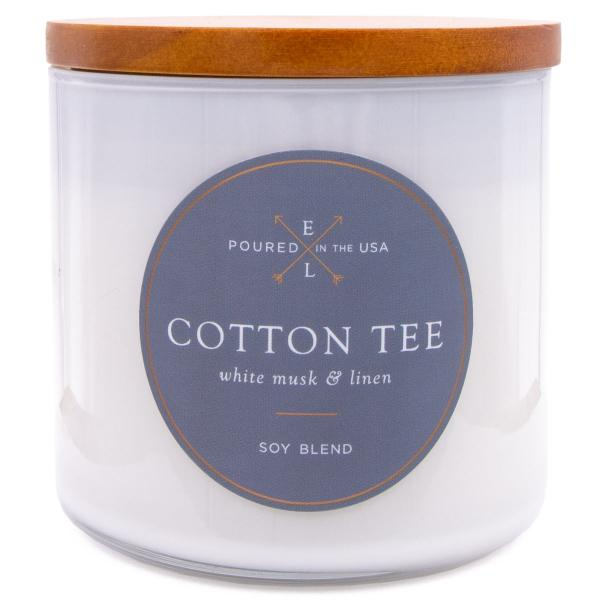 Colonial Candle - Mittlere Duftkerze im Glas - Everyday Luxe - Holzdocht White Cotton
