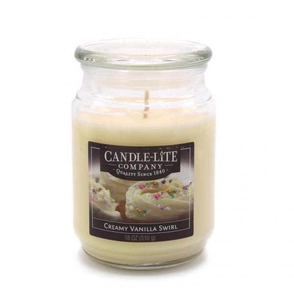 Candle-Lite Company - Große Duftkerze im Glas - Large Jar - Creamy Vanilla Swirl