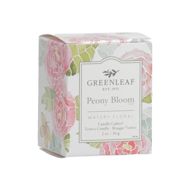 Greenleaf - Candle Cube Votivkerze - Duftkerze - Peony Bloom