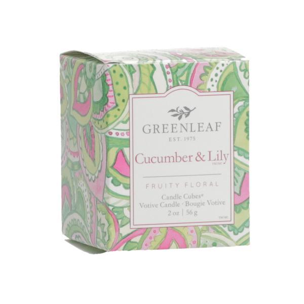 Greenleaf - Candle Cube Votivkerze - Duftkerze - Cucumber & Lily