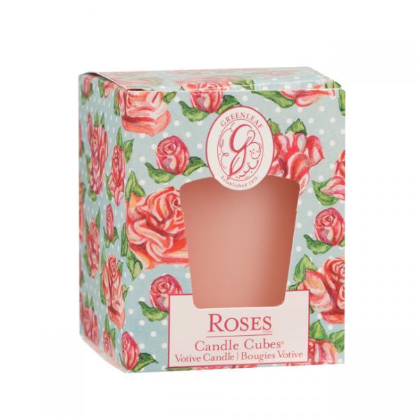 Greenleaf - Candle Cube Votivkerze - Duftkerze - Roses