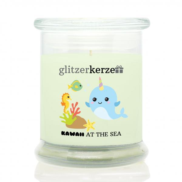 glitzerkerze - Duftkerze - kawaii At the Sea
