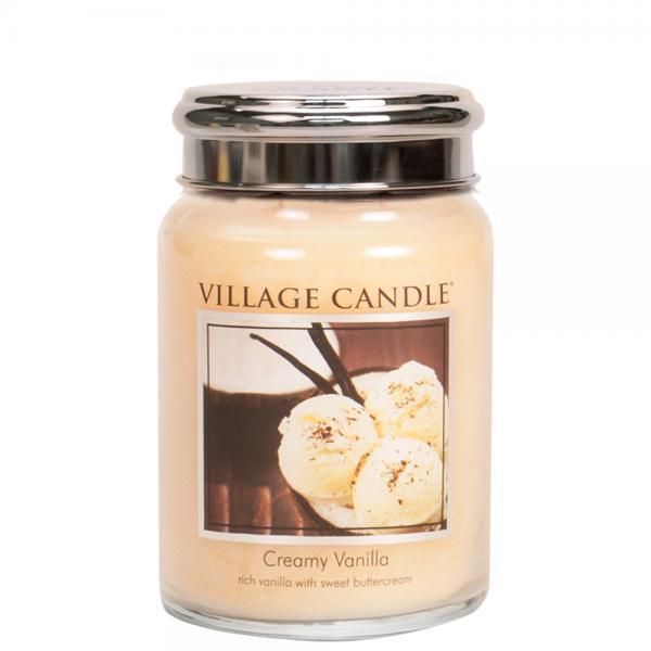 Village Candle - Large Glass Jar - Creamy Vanilla