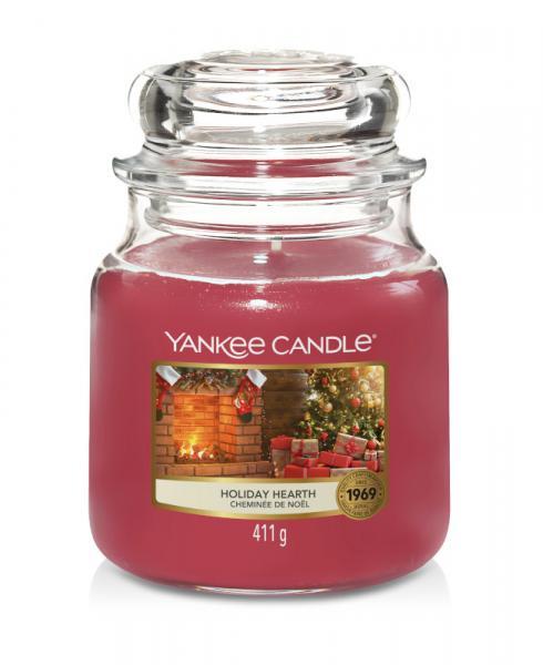 Yankee Candle - Classic Medium Jar Housewarmer - Holiday Hearth Δ