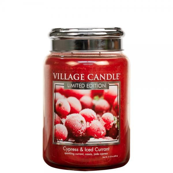 Village Candle - Large Glass Jar - Cypress & Iced Currant (LE)