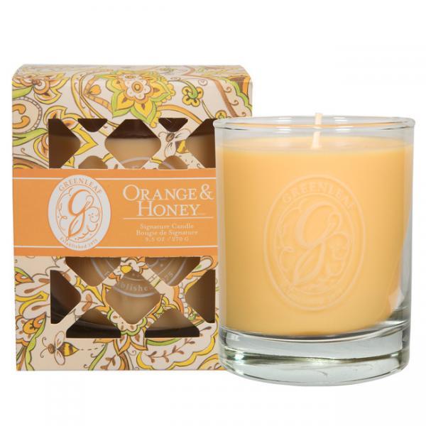 Greenleaf - Duftkerze im Glas - Signature Candle - Orange & Honey