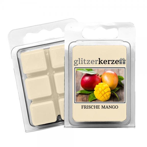 glitzerkerze - Duftwachs Frische Mango