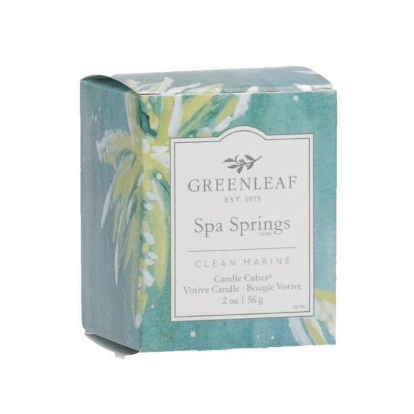 Greenleaf - Candle Cube Votivkerze - Duftkerze - Spa Springs