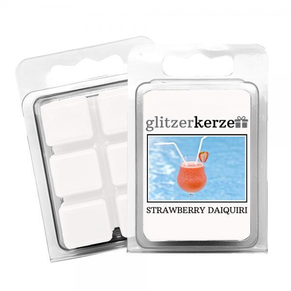 glitzerkerze - Duftwachs Strawberry Daiquiri