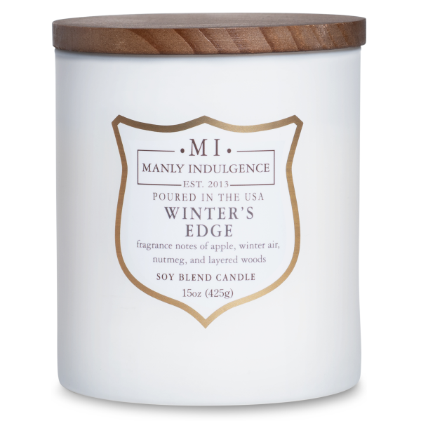 Colonial Candle - Mittlere Duftkerze im Glas - Manly Indulgence - Winters Edge