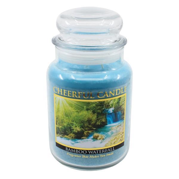 Cheerful Candle - Classic Large Jar - Duftkerze im Glas - Bamboo Waterfall