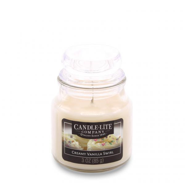 Candle-Lite Company - Kleine Duftkerze im Glas - Small Jar - Creamy Vanilla Swirl
